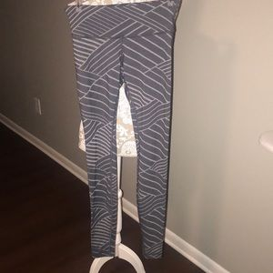 Lululemon gray striped workout leggings!